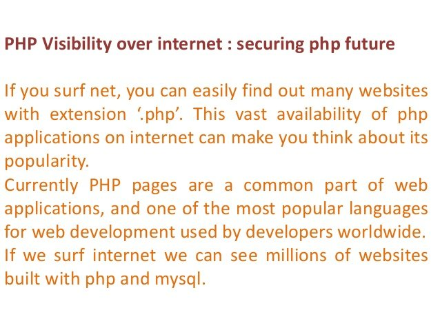 PHP visibility over interrnet