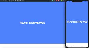 React native web using expo