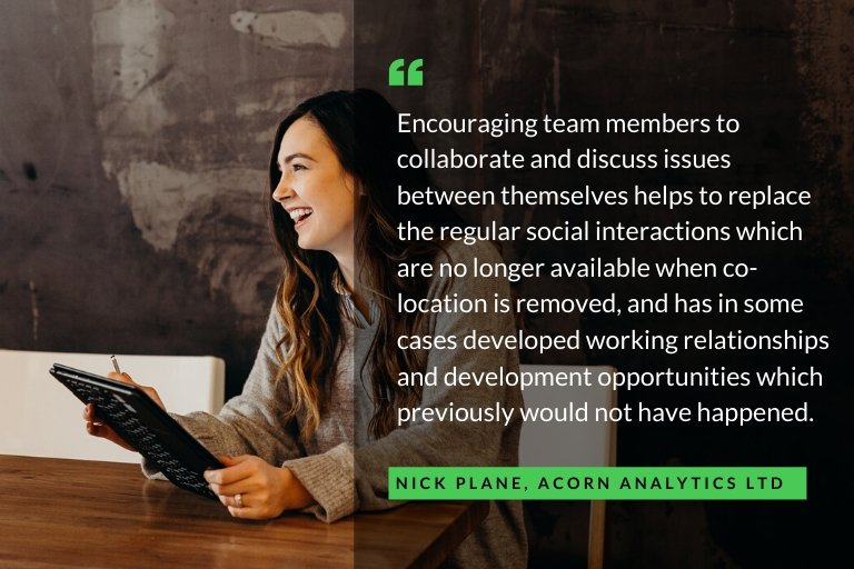 Collaborate with employees for productivity