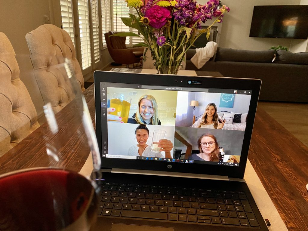 Non-work interactions in remote team